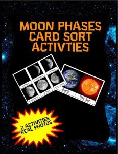 Moon Phases Card Sort Activity