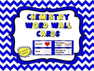 Chemistry Word Wall Cards