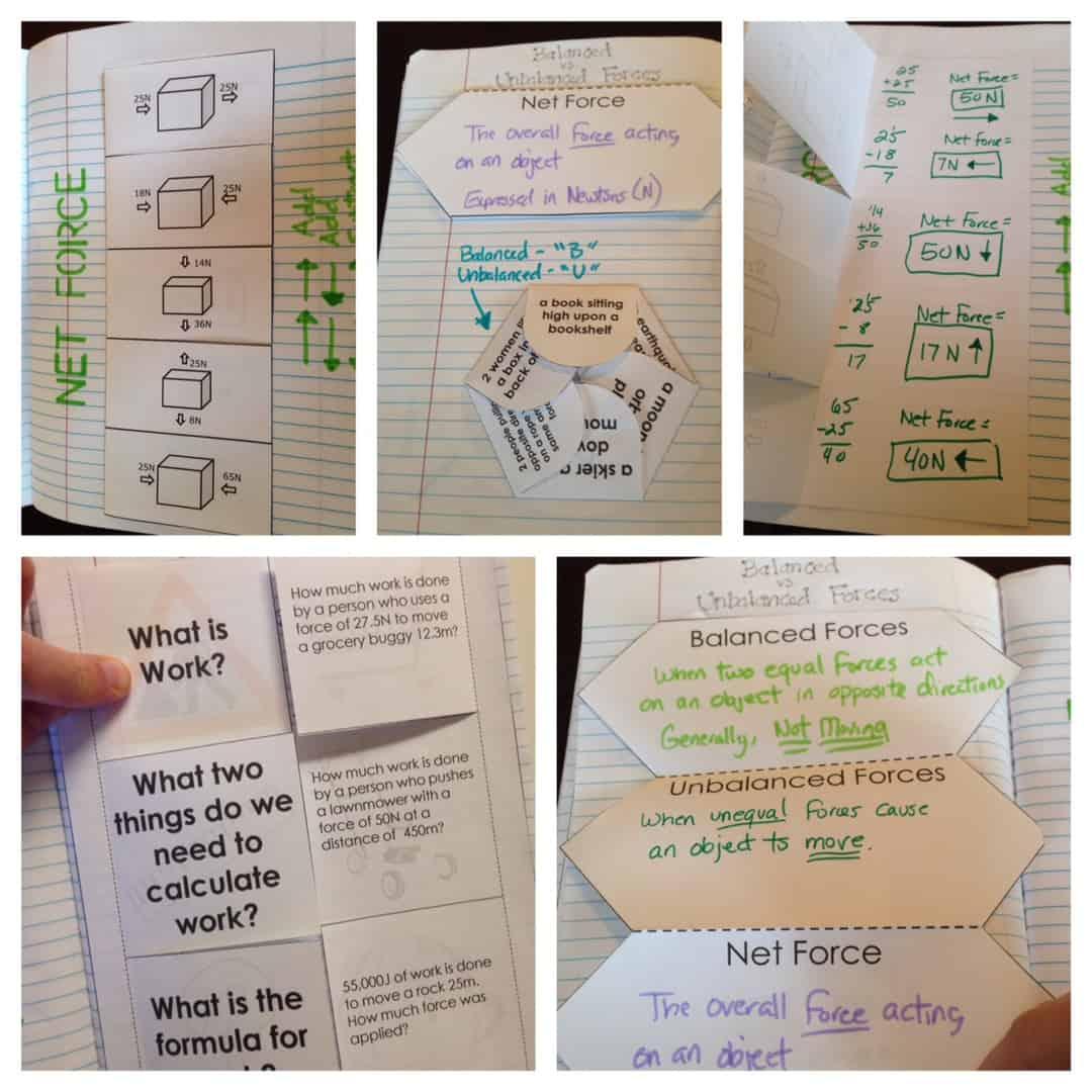 Force and Motion Interactive Notebook (INB) Pages   Kesler Science