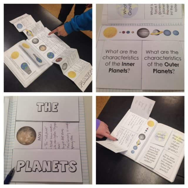 Space Interactive Notebook Pages and Templates - Kesler Science