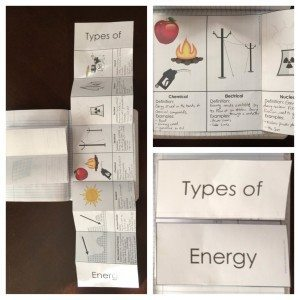Types of Energy Interactive Notebooks
