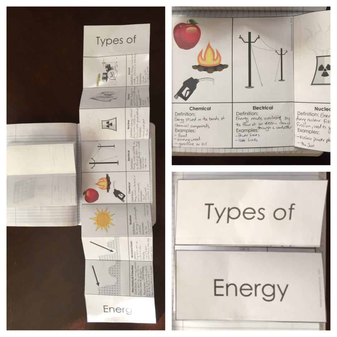 Energy science journal and interactive notebook pages kesler science types of energy interactive notebooks robcynllc Images