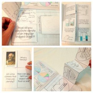 Density templates for science journals and interactive notebooks