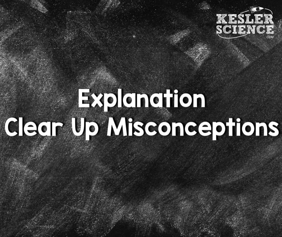 Explanation clear up misconceptions