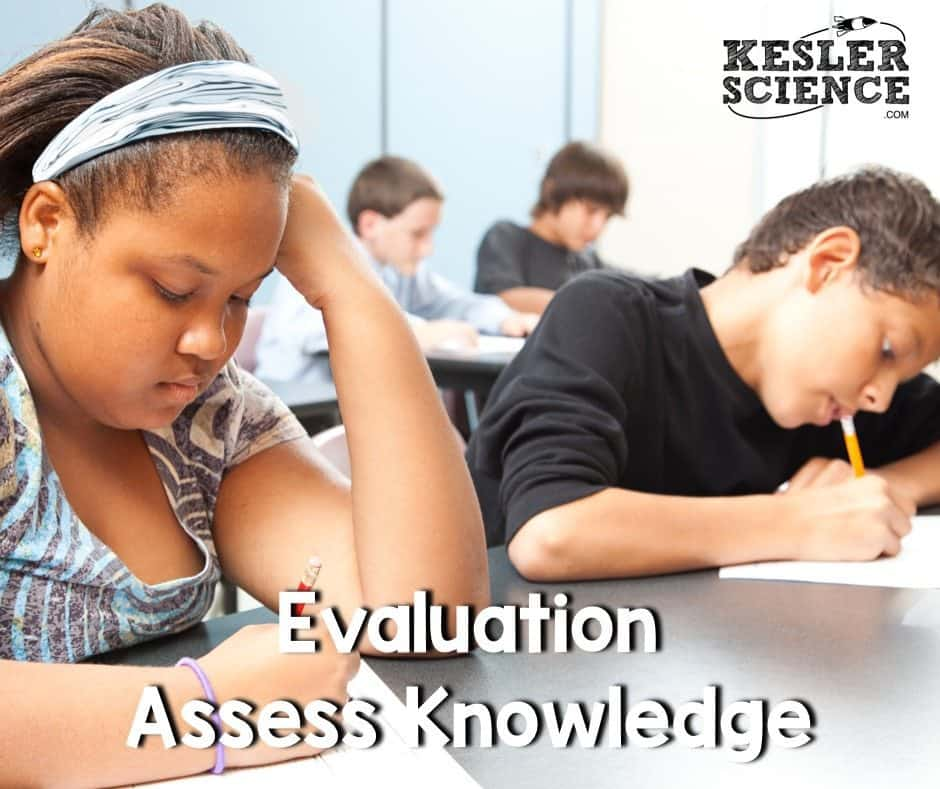 evaluation assess student knowledge 5e