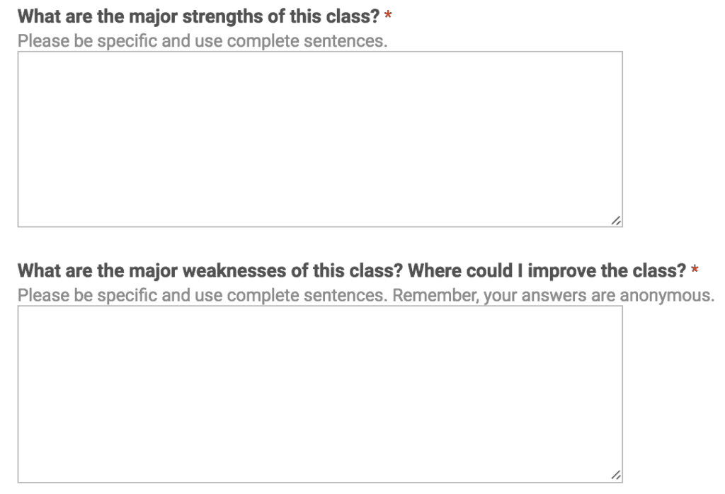 Challenge students to come up with strengths and weaknesses for your class to help you improve as a teacher.