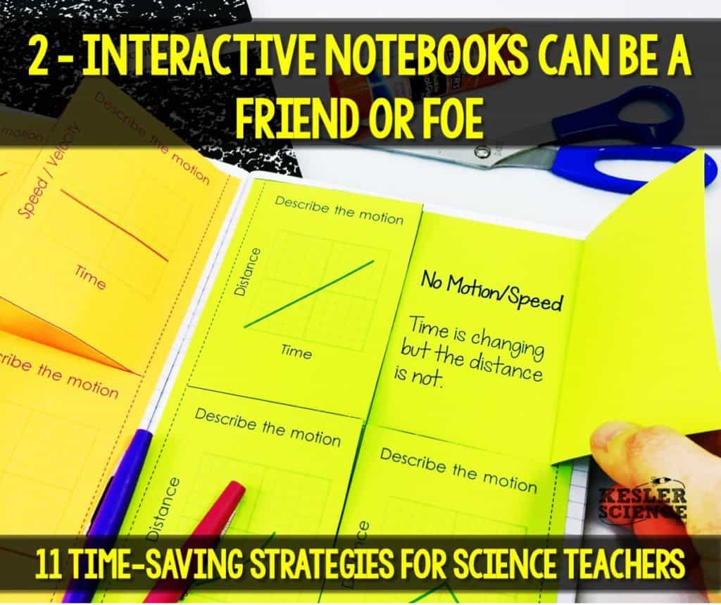 Don't be scared of interactive notebooks in science. Read all about how to make your science class more efficient using 11 time saving strategies