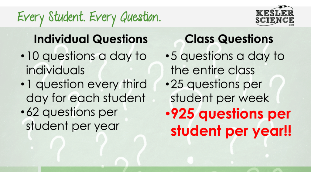 Instead of asking random students questions in class, have ALL of the students think about the question and then randomly choose one to answer it.