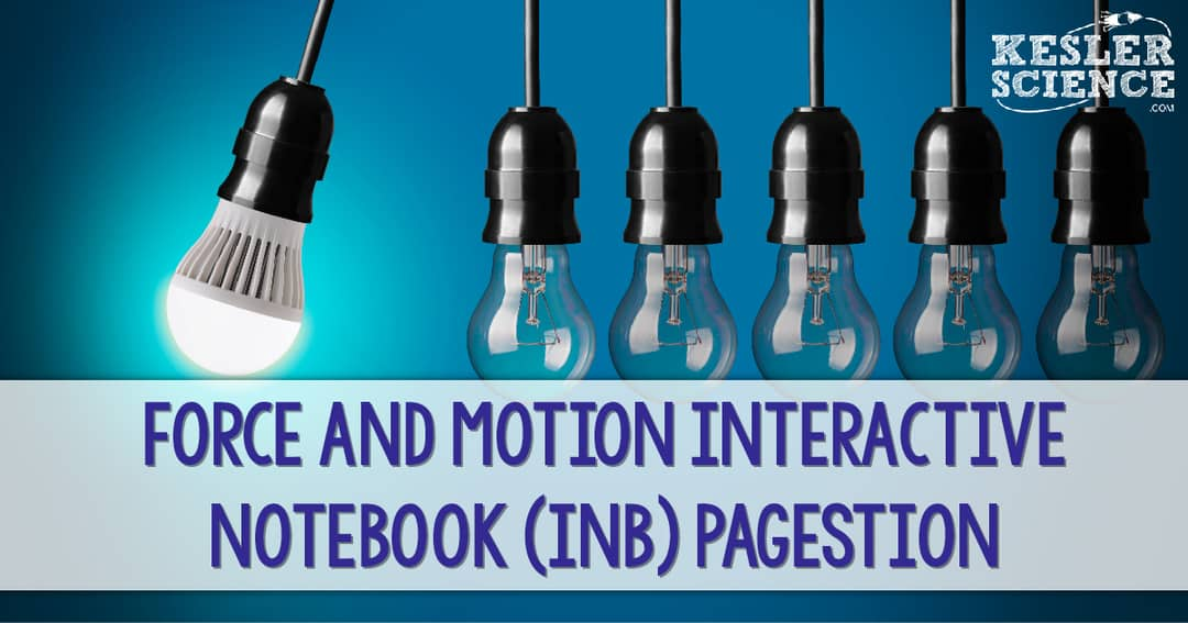 Force And Motion Interactive Notebook INB Pages Kesler