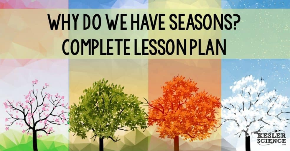 Full lesson plan on why we have seasons, the relationship of the Earth and Sun, and the reason we have day and night.