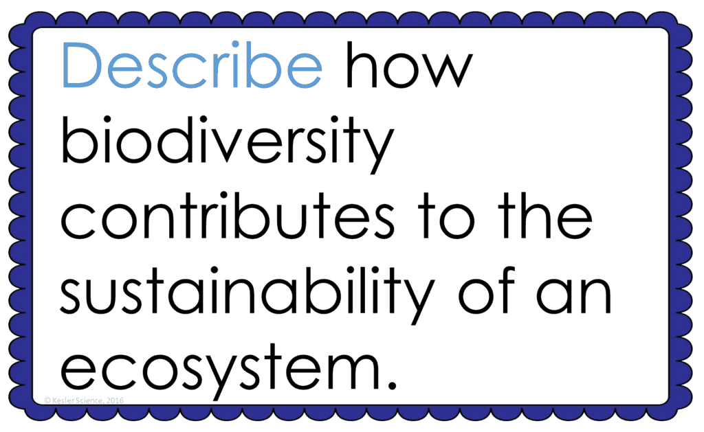 BIODIVERSITY LESSON PLAN – A COMPLETE SCIENCE LESSON USING