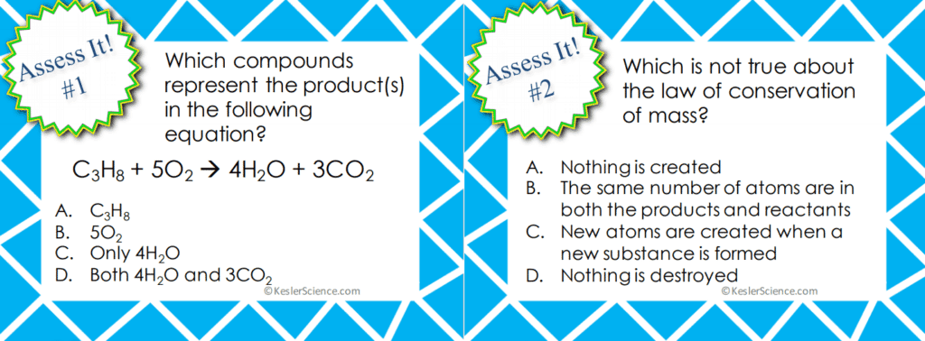 Balancing Chemical Equations 5E Lesson
