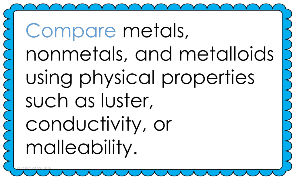 Physical Properties Of Metal Nonmetals And Metalloids