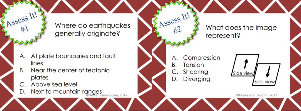 Earthquakes 5E Lesson