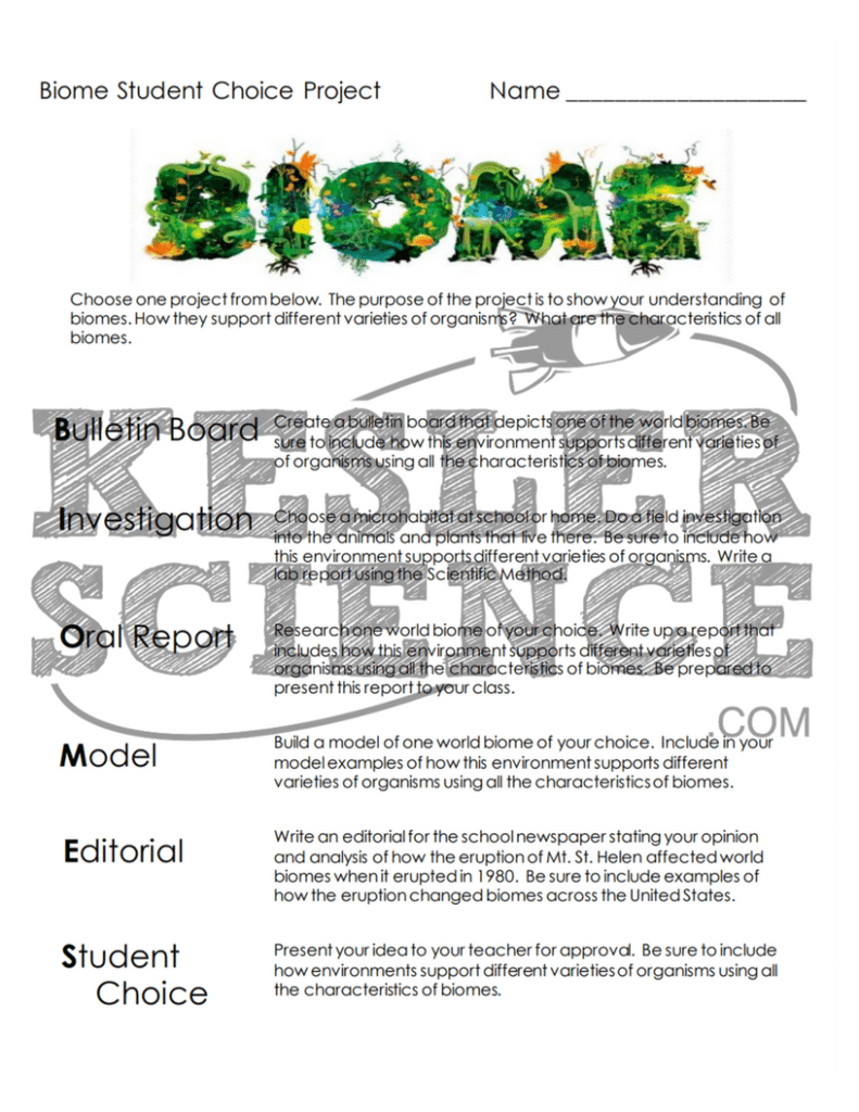 BIOMES LESSON PLAN – A COMPLETE SCIENCE LESSON USING THE 5E