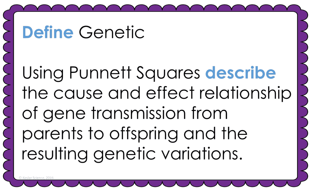 GENETICS LESSON PLAN – A COMPLETE SCIENCE LESSON USING THE