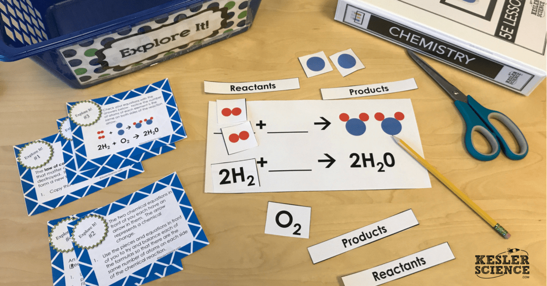 BALANCING CHEMICAL EQUATIONS LESSON PLAN – A COMPLETE SCIENCE LESSON USING  THE 5E METHOD OF INSTRUCTION Kesler Science
