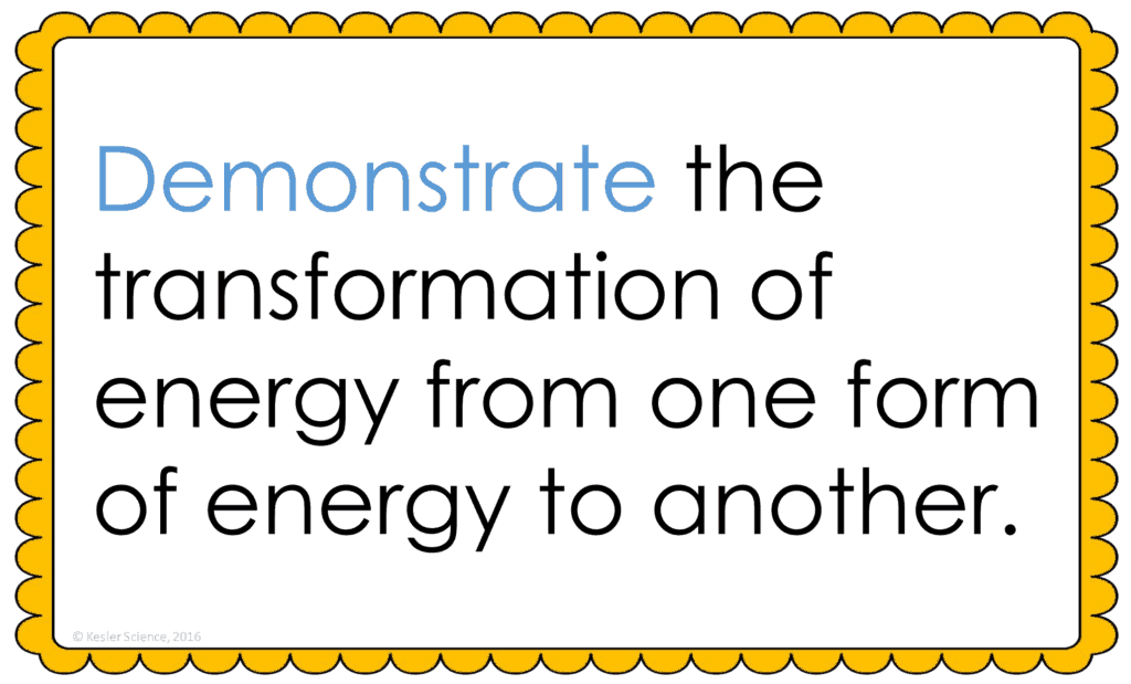 Energy Transformation Lesson Plan A Complete Science Lesson Using