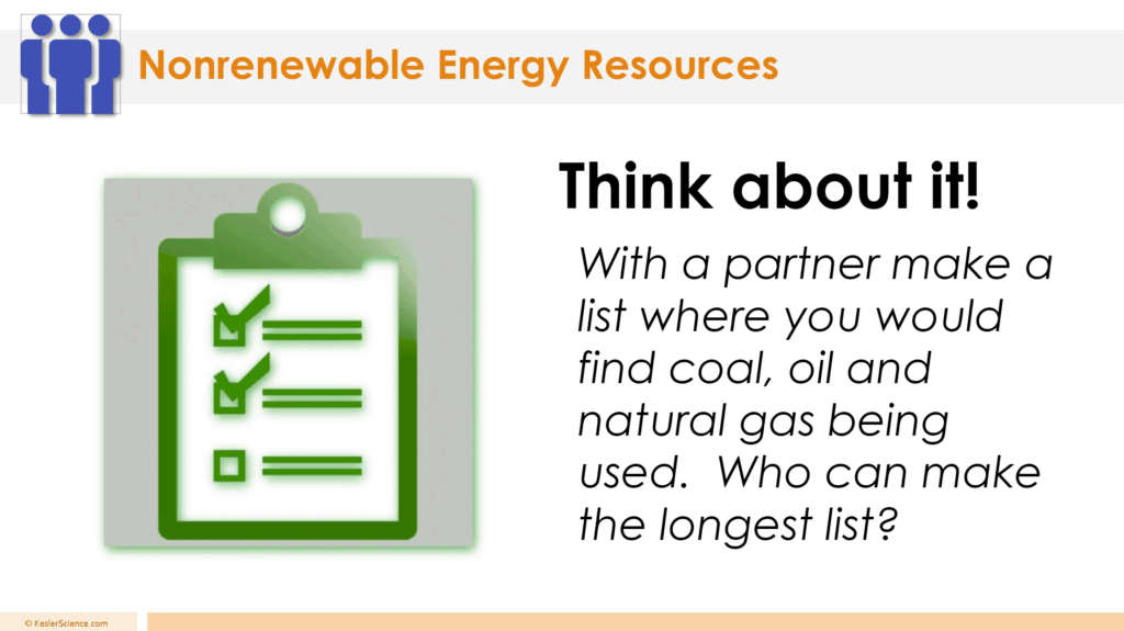 Nonrenewable Sources 5E Lesson