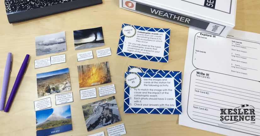 Catastrophic Events 5E Lesson Plan