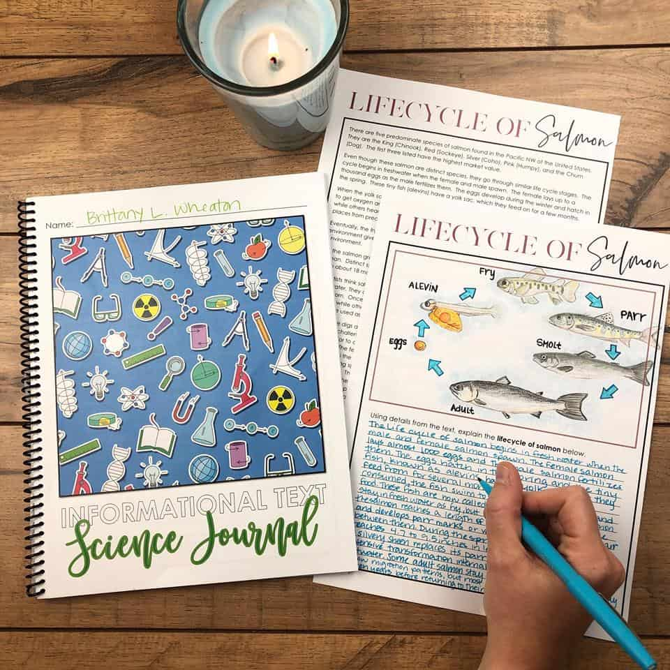 Informational Text Science Journal - Kesler Science